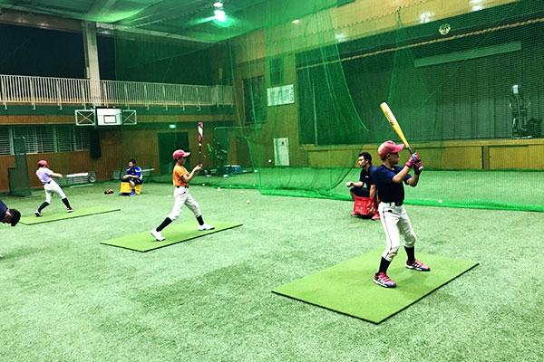 野球アカデミー練習風景