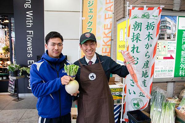 JR駅構内のものでの野菜の直販