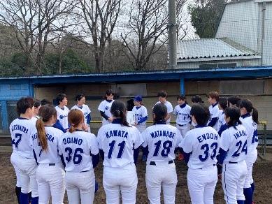 女子硬式野球部創設
